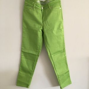🔴 Express green cropped jeans